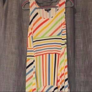 Dress long multi color